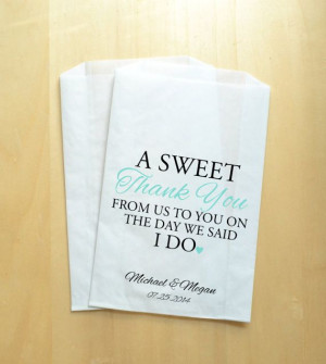 ... ://www.etsy.com/listing/189746492/sweet-thank-you-wedding-favor-bags