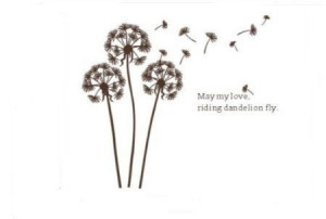 Dandelion nursery kids room removable quote vinyl wall decals stickers ...