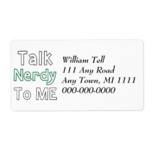 Talk Nerdy To Me Personalized Shipping Label