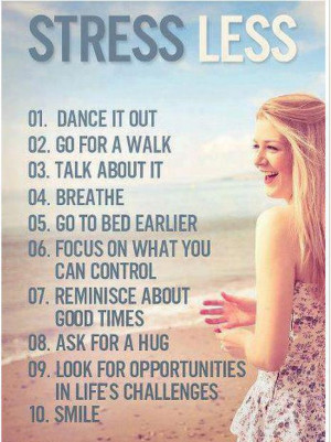 10 useful tips to reduce stress