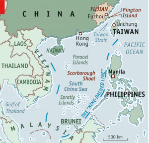 This infographic from Economist.com shows the nine-dash line ...