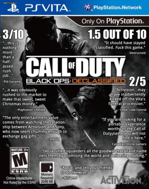 Call of Duty: Black Ops Declassified – Quotes On A Box