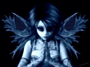Dark - Angel Gothic Dark Lace Leather Goth Anime Wallpaper