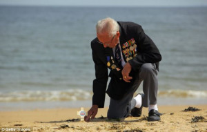 Never forget: Normandy Veteran Eric Buckley, then 85, from Leicester ...