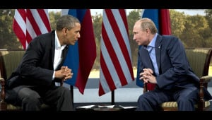 President Barack Obama pictured with Russian President Vladmir Putin ...