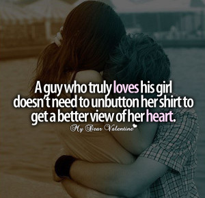Love hurts quotes - A guy who truly loves