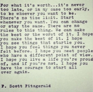 Go Back > Pix For > F Scott Fitzgerald Quotes I Hope You Live A Life ...