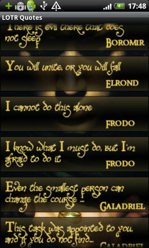 Lord Of The Rings Quotes - screenshot