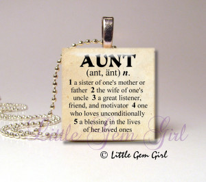 Special Aunt Quotes Aunt necklace pendant