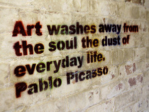 Art washes away from the soul the dust of everyday life - Life Quote.