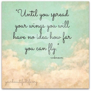 Spread your wings and fly.