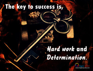 Life quote with key for success, Key is on the box