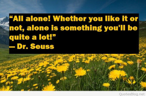 Being alone quote field image