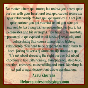 Marriage Is Not Just A Legal Decision..