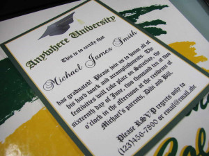 college graduation invitations Wording