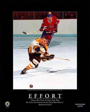 Bobby Orr Boston Bruins Effort Framed 16x20 Motivational Plaque