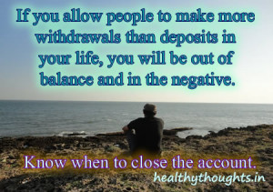 If you allow people to make more withdrawals