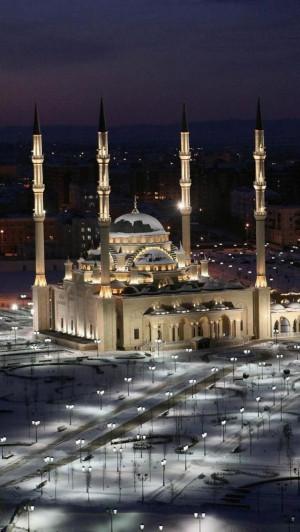 Akhmad Kadyrov Mosque, Grozny , the capital of Chechnya, Russia ...