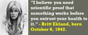 ... Britt Ekland, born October 6, 1942. #BrittEkland #OctoberBirthdays #