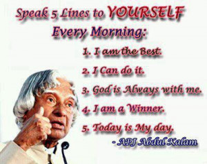 Abdul Kalam Inspirational Pic Quote