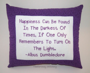 ... Quotes And Sayings: Cross Stitch Pillow Purple With The Cube Frame