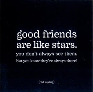 Magnet: Good friends are like stars (MAG-STARS)