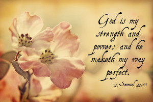 ... Is My Strength And Power And He Maketh My Way Perfect - Bible Quote