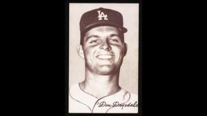 Don Drysdale B&w Exhibit Card (1947-66)~hof~