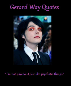Gerard Way Quotes About Love Gerard way quotes by