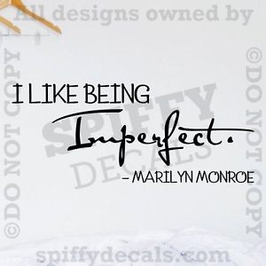 MARILYN-MONROE-I-LIKE-BEING-IMPERFECT-Quote-Vinyl-Wall-Decal-Decor ...