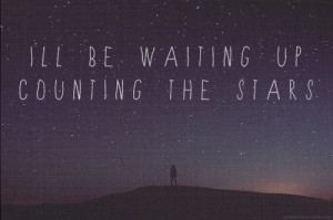 night, note, quote, sentence, stars, typographyt