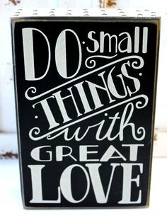 Great Love - Wood Block Sign - Inspirational Sayings & Popular Quotes ...