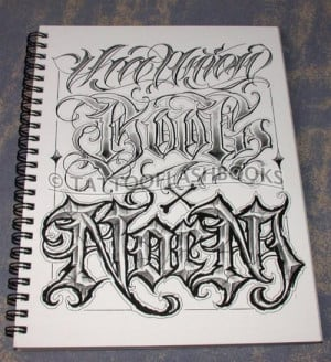 Gangster Chicano Tattoo Lettering