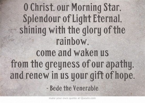 Prayer ... Bede the Venerable