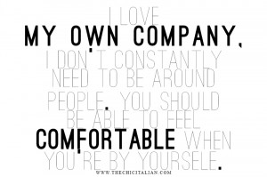 ... more is the fact that you need to be comfortable with being dependent