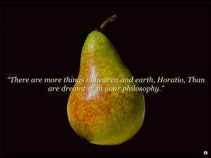 ... animated pear shakes pear you shake the pear and then you get a quote