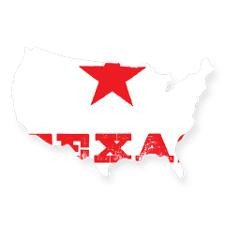 im from texas USA Sticker for