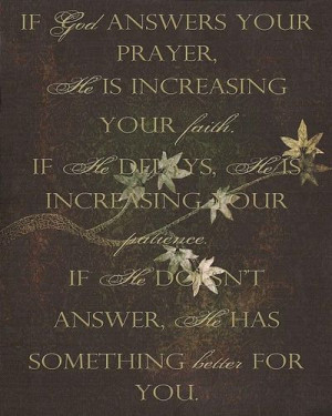 God's Answers to Prayer