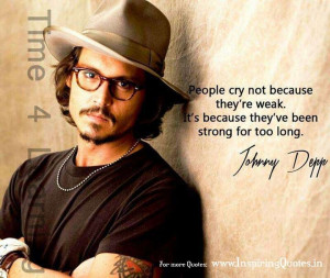 JohnnyDepp #quotes #strength #tears