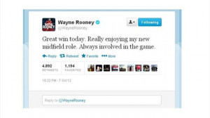 Twitter users are now re-tweeting Rooney's words from last October and ...