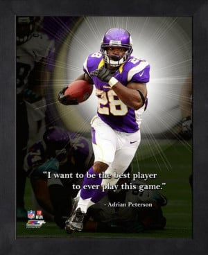 Minnesota Vikings Adrian Peterson Framed Pro Quote