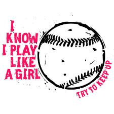 play_like_a_girl_softball_ornament_round