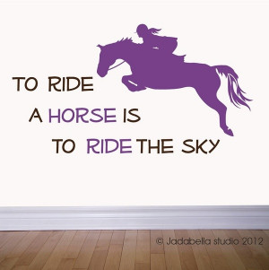 Horse jumping with Quote vinyl wall decal #Artsandcrafts