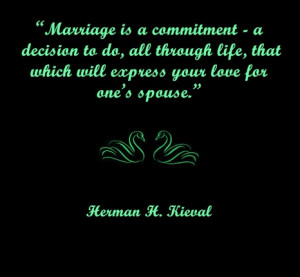 Marriage should not be taken lightly; at least in the commitment sense ...