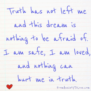 Truth has not left me - inspired by A Course in Miracles