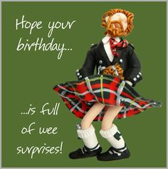 Holy Mackerel are off to Scotland for this birthday card from Erica ...