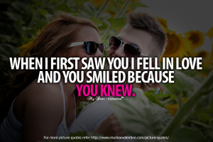 Sweet Love Quotes - When I first saw you