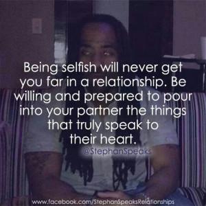 Being Selfish