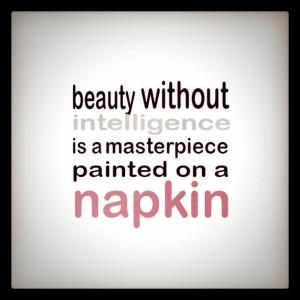 beauty without intelligence