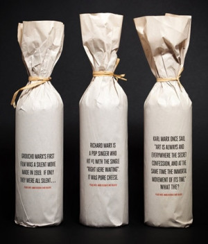 Great idea for quote paper wine bags